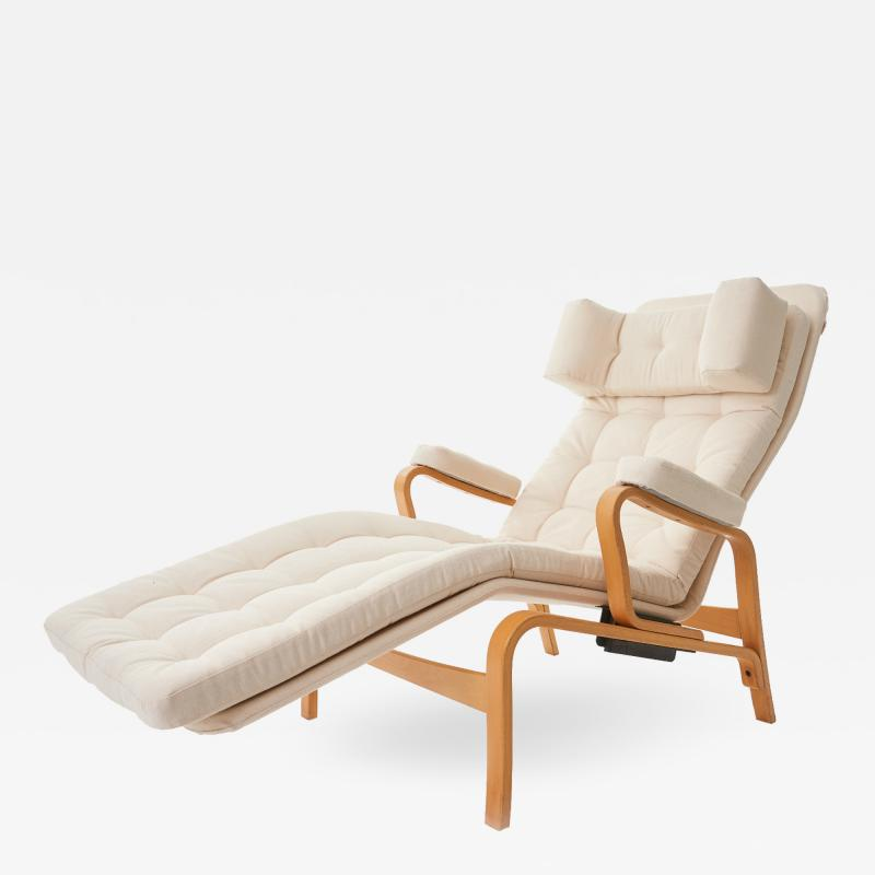 Sam Larsson 1970s Fenix by Sam Larsson for DUX Reclining Bentwood Lounge Chair