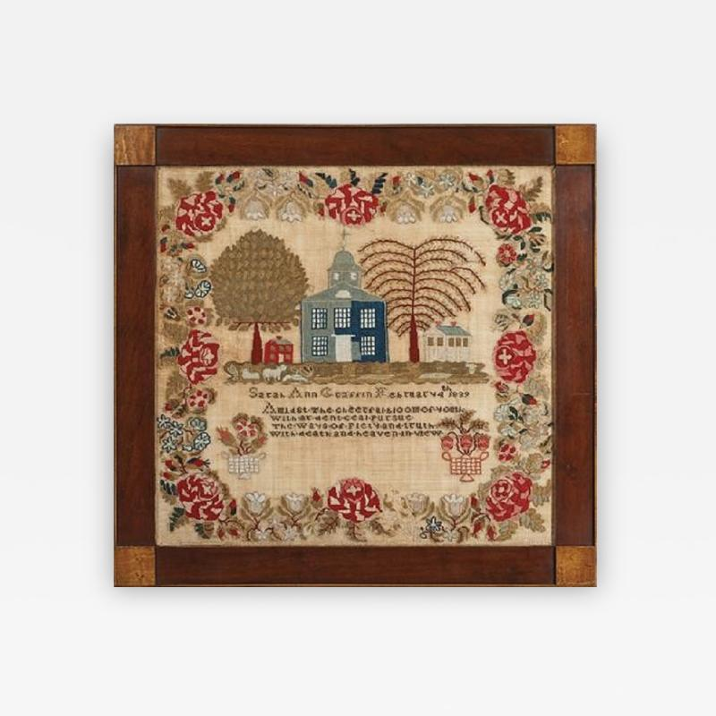 Sampler by Sarah Ann Graffin Lehigh Valley PA 1839