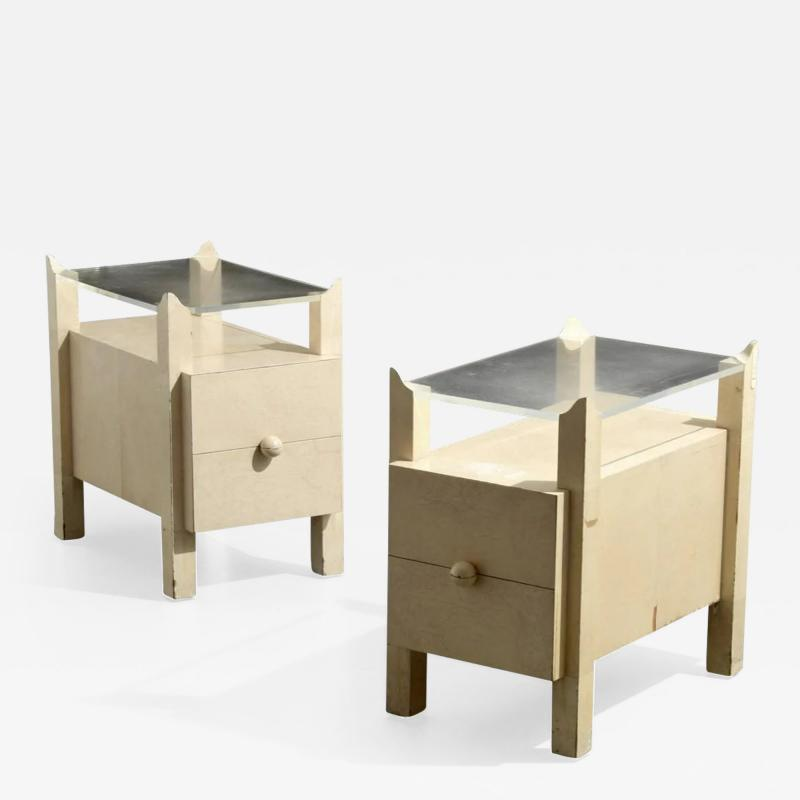 Samuel Marx Pair of Samuel Marx End Tables Nightstands