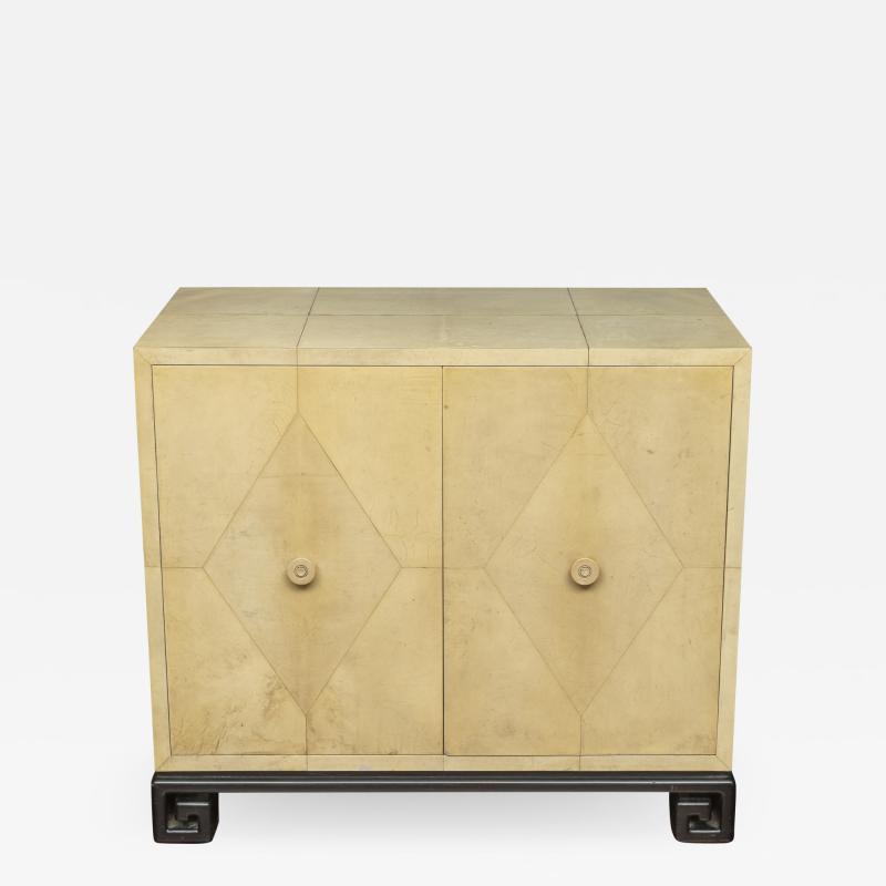 Samuel Marx Samuel Marx Style Parchment Clad Cabinet