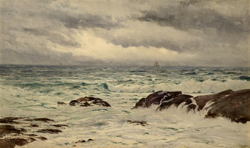 Samuel Peter Rolt Triscott A Chop Sea Monhegan