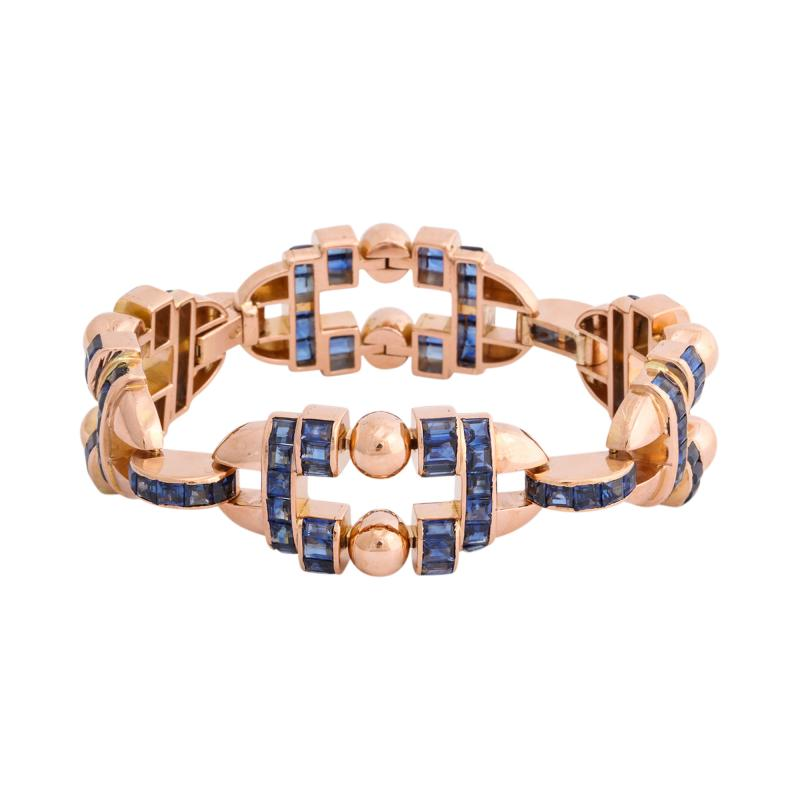 Sapphire and Gold Bracelet by G belin