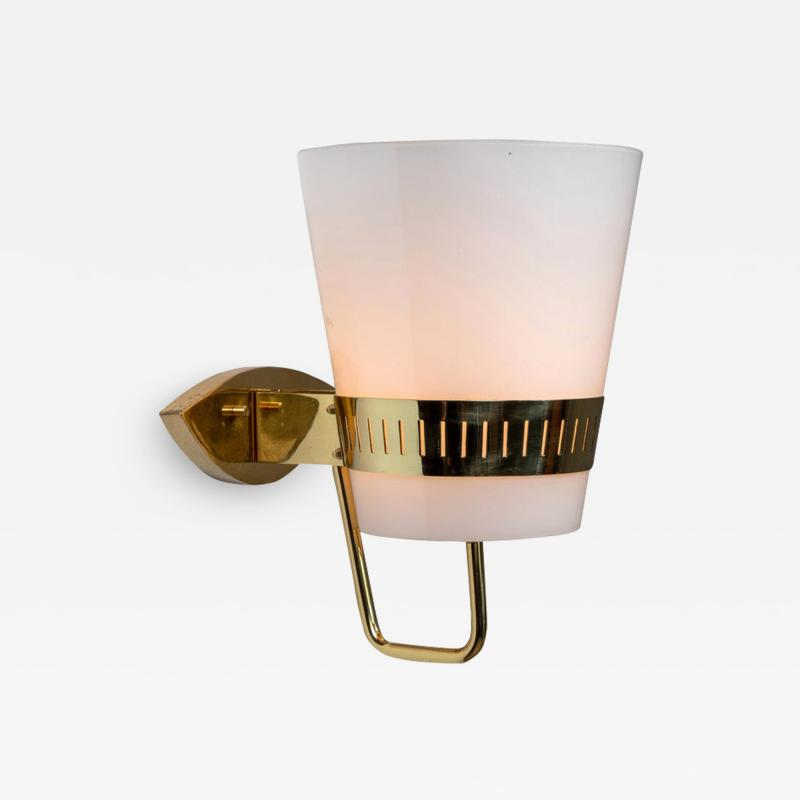 Sarfati Stilnovo Large 1950s Stilnovo Brass and Glass Sconce