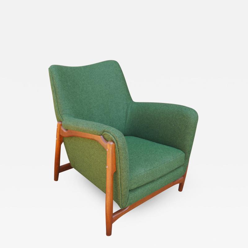 Scandanavian Modern Walnut Lounge Chair