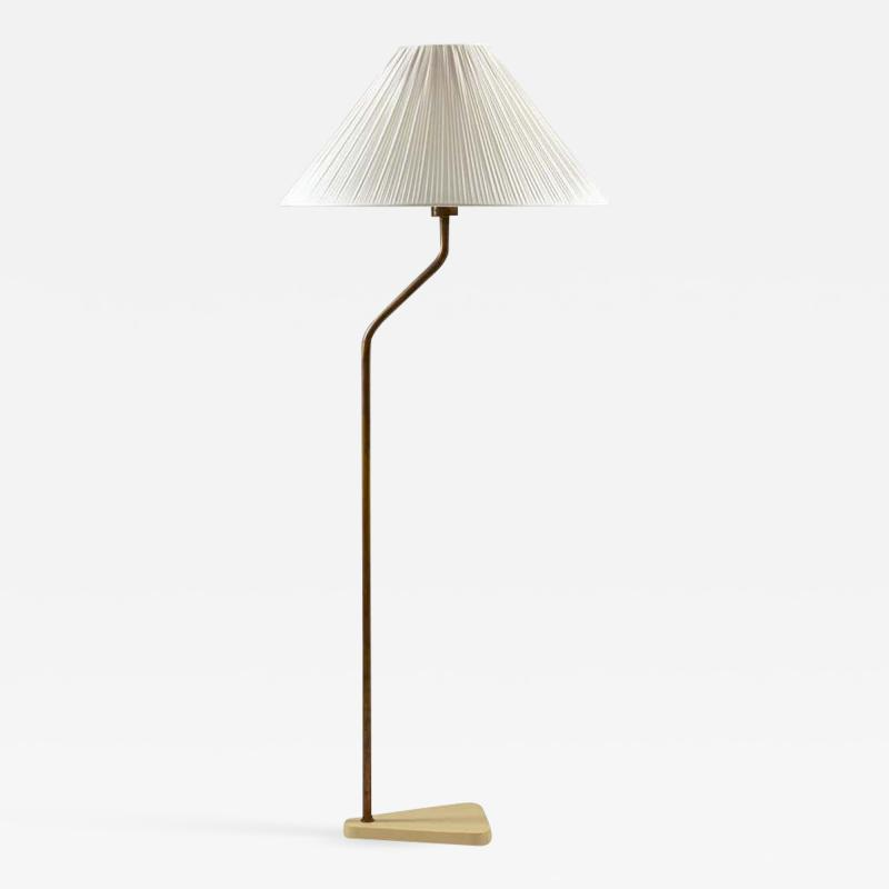 Scandinavian Midcentury Floor Lamp in Brass 1940s