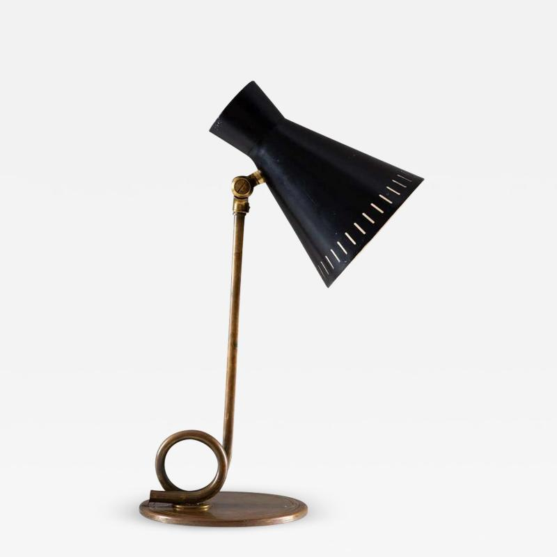 Scandinavian Midcentury Table Lamp in Brass
