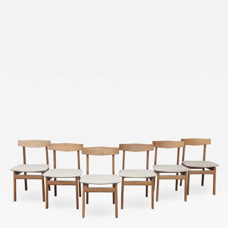 Scandinavian Modern Oak Dining Chairs