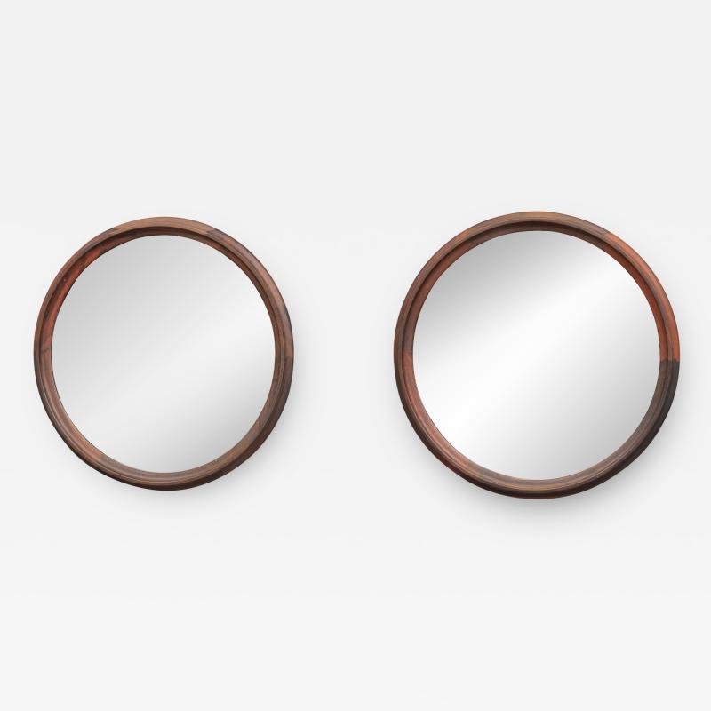 Scandinavian Modern Rosewood Wall Mirrors