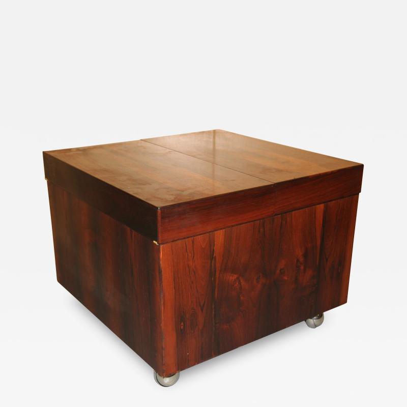 Scandinavian Rosewood Cube Bar Coffee Table