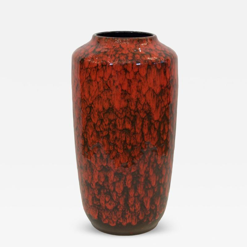 Scheurich Keramik Heavily Textural Red And Black Scale