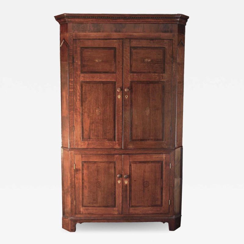 Scottish George III Period Corner Cabinet