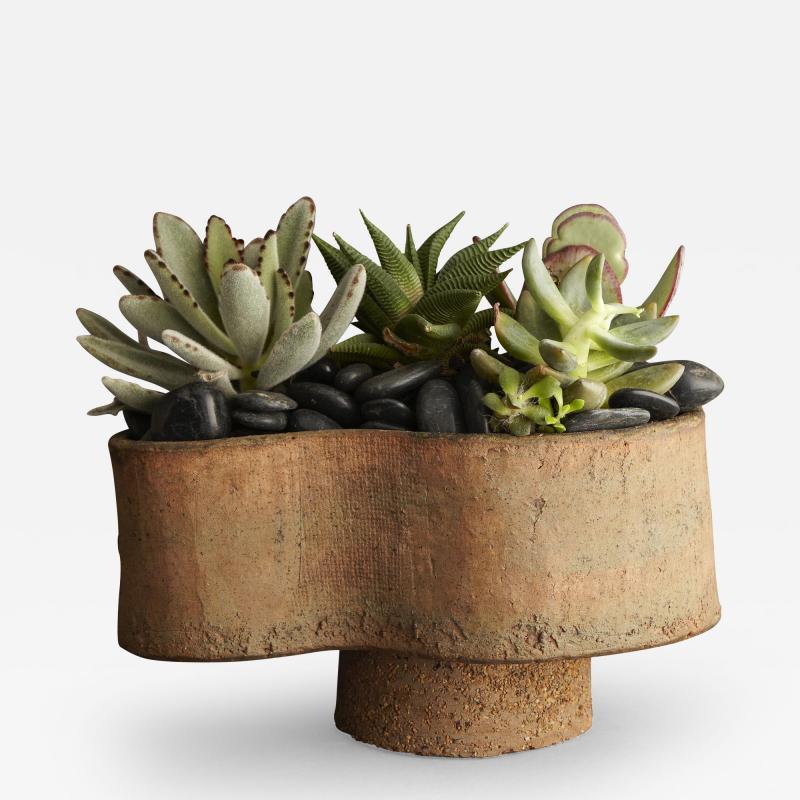 Sculptural Ceramic Vase in Earth Tones