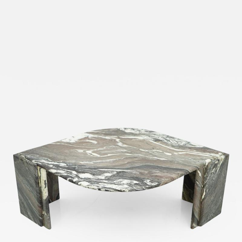 Sculptural Marble Coffee Table Italy 1970s