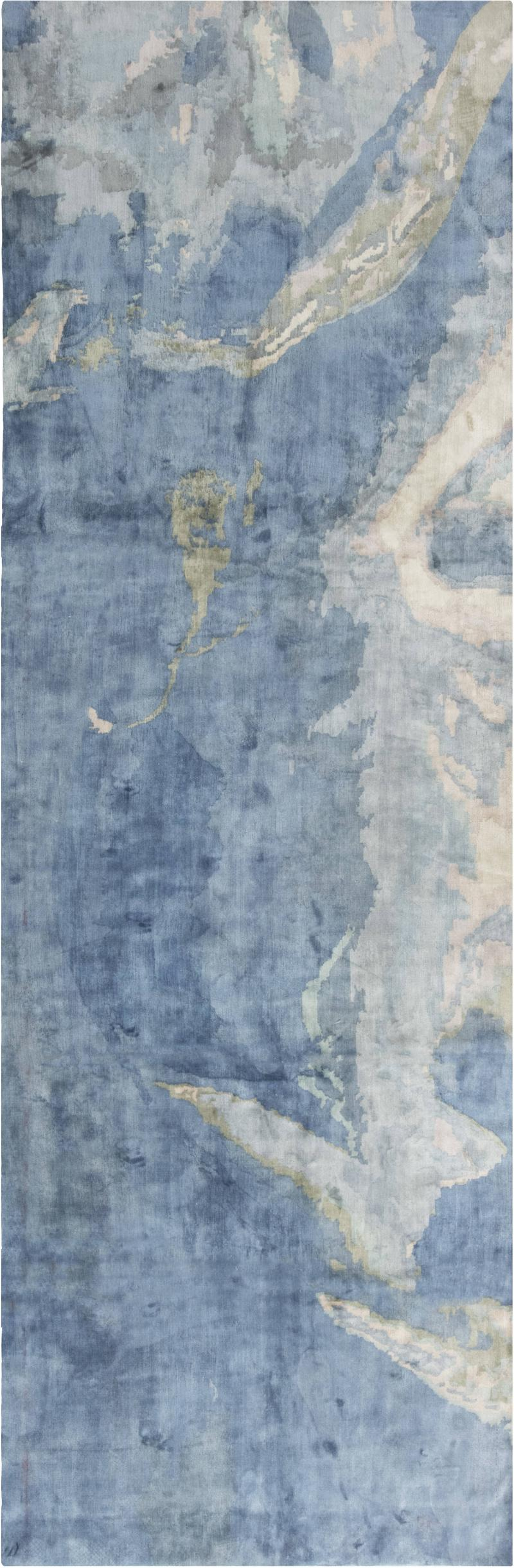 Sea and Sand Hand knotted Silk Runner