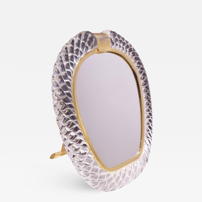 Seguso Vetri d Arte Seguso Large Hand Blown Vanity Mirror 1981 Signed