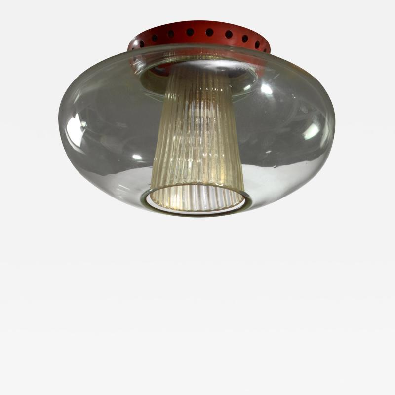 Seguso Vetri d arte Pier Luigi Colli flush mount ceiling lamp for Seguso