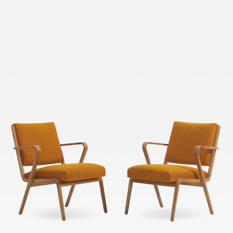Selman Selmanagic Easy Chairs by Selman Selmanagic for VEB Deutsche Werkst tten Hellerau DDR 1950