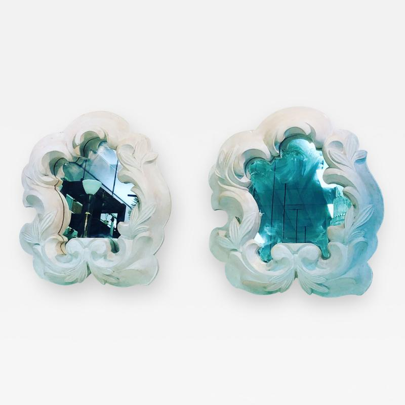 Serge Roche Fabulous Pair of Plaster Mirrors in the Manner of Serge Roche