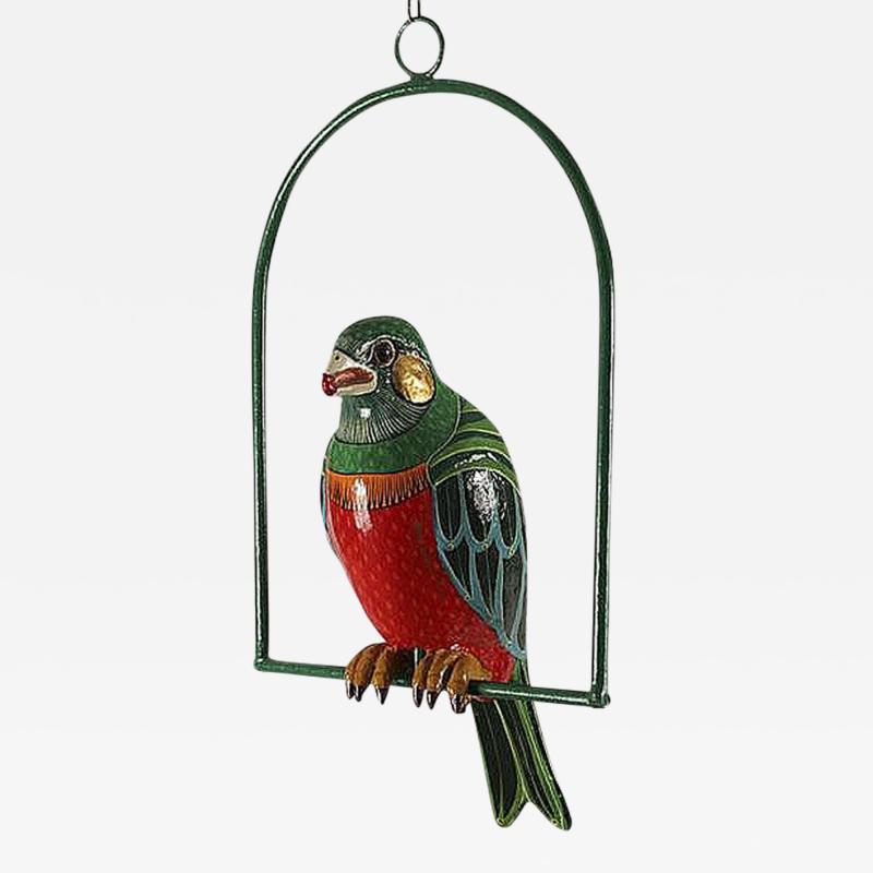 Sergio Bustamante Editioned Hanging Parrot Sculpture Sergio Bustamante