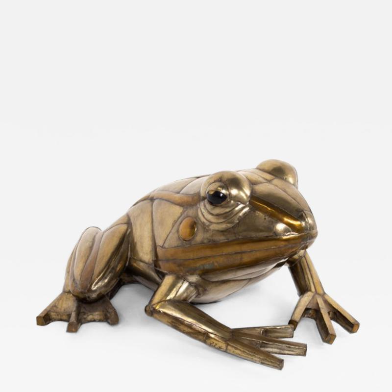 Sergio Bustamante Sergio Bustamante Mid Century Brutalist Metal Frog