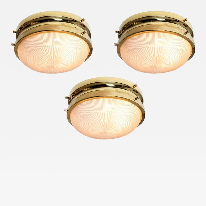 Sergio Mazza 1960s Sergio Mazza Brass Sigma Wall or Ceiling Lights for Artemide