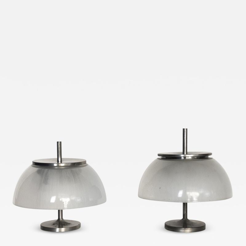 Sergio Mazza Pair of Alfetta table lamps for Artemide