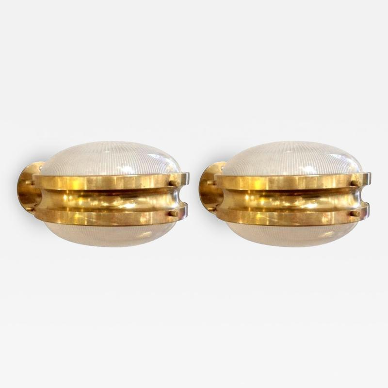 Sergio Mazza Pair of Mid Century Modern Gamma sconces by Sergio Mazza for Artemide