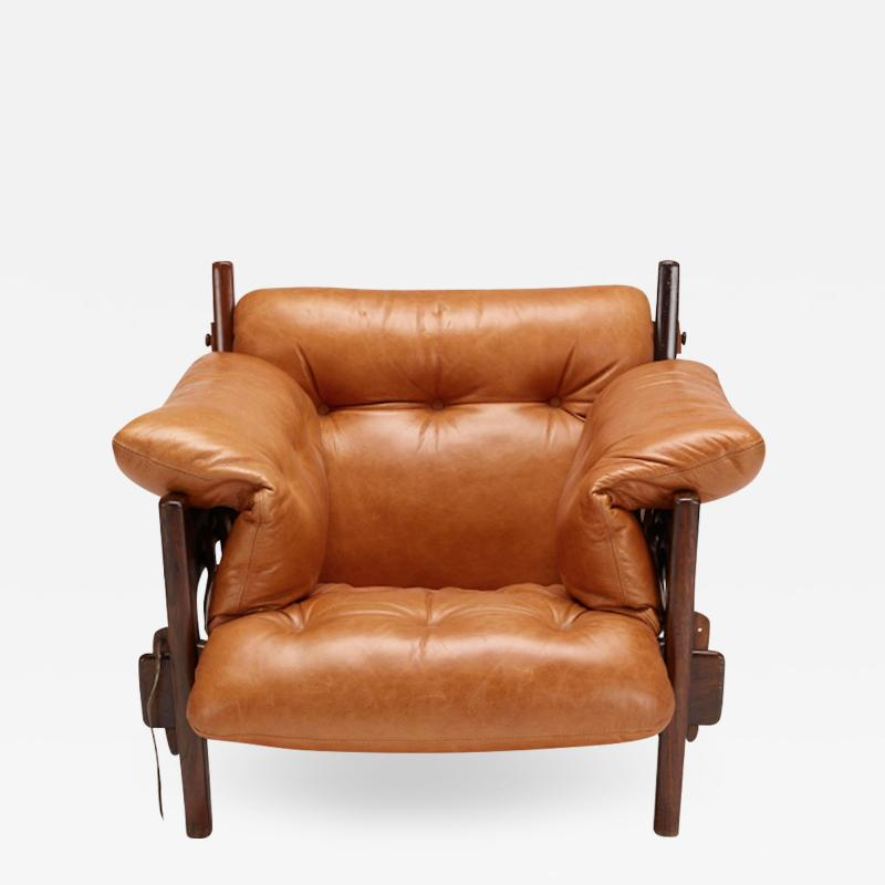Sergio Rodrigues JACARANDA AND LEATHER MISCHEVIOUS CHAIR BY SERGIO RODRIGUES