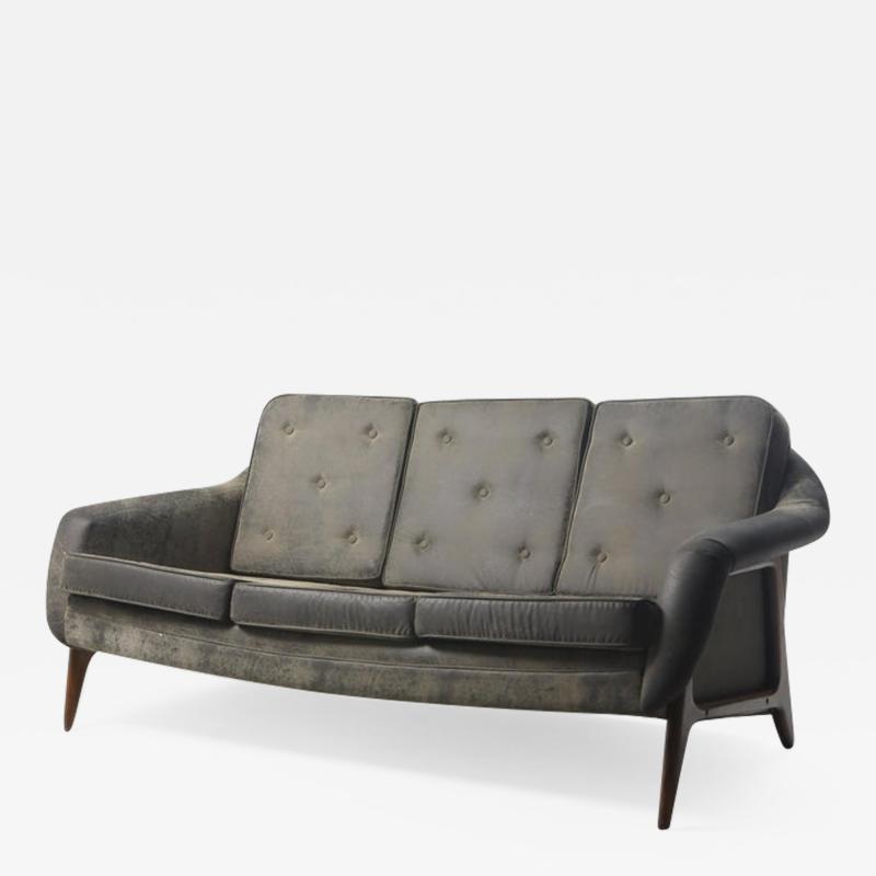 Sergio Rodrigues Mid Century Modern Stella Sofa Couch by Brazilian Designer Sergio Rodrigues