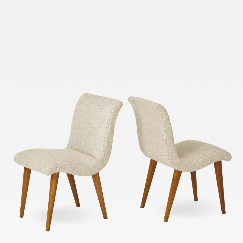 Set of 3 Modernist side Chairs designed by Russel Wright for Conant Ball