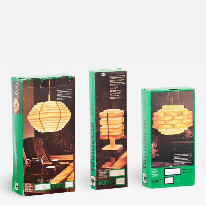 Set of 3 Scandinavian Modern DIY Lamps 2 Pendants and 1 Table Lamp