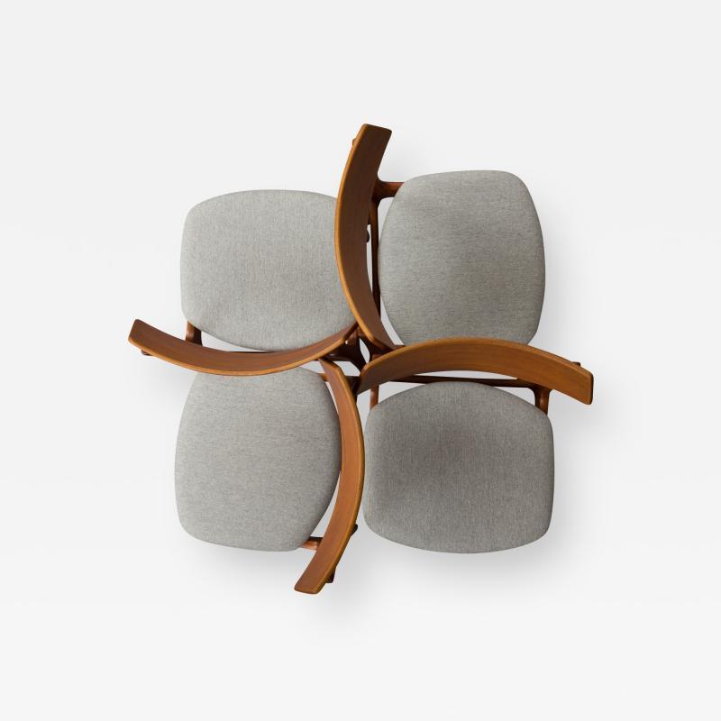 Set of 4 Funder Schmidt and Madsen teak chairs