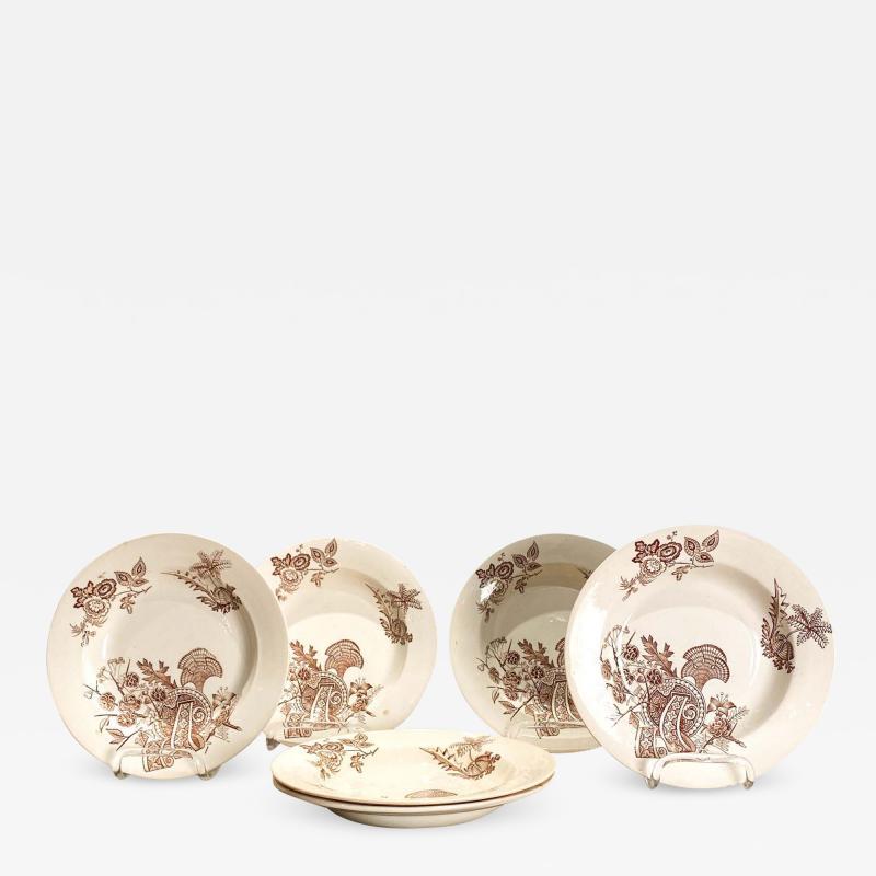 Set of 6 English Soup Bowls