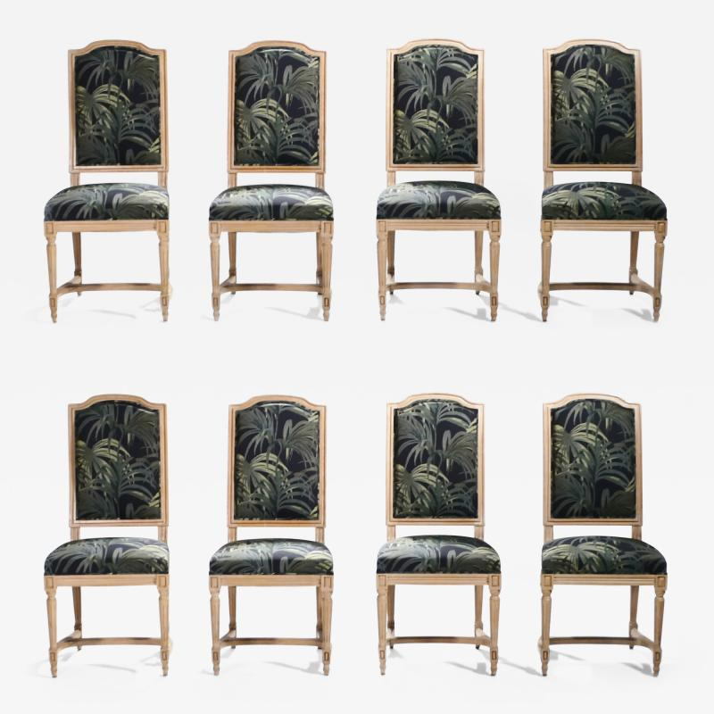 Set of 8 Louis XV style chairs 1950 s