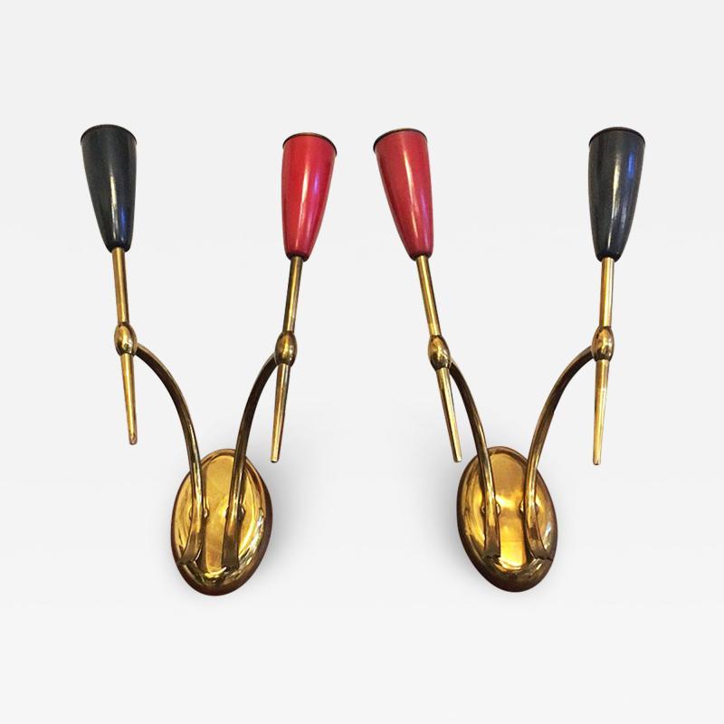 Set of Brass applique 1950s