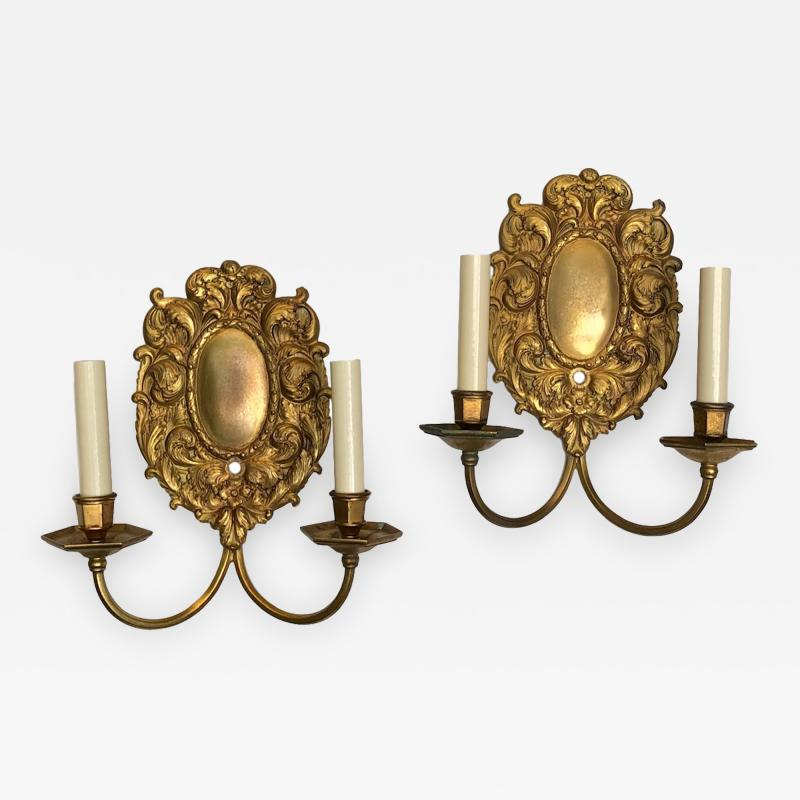 Set of Cast Bronze Caldwell Sconces Sold in Pairs