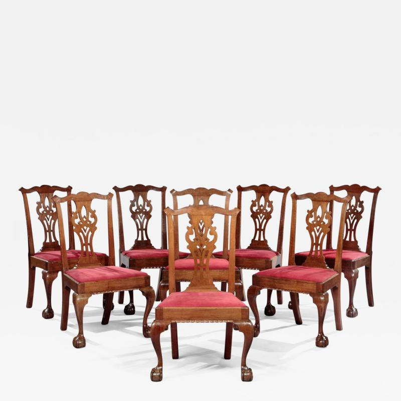 Set of Eight Chippendale Side Chairs