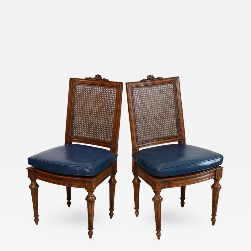 Set of Eight Louis XVI Beechwood Dining Chairs Late 18th Century