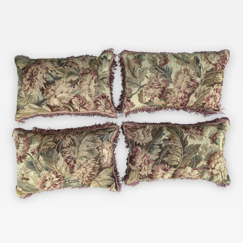 Set of Four 18th Century French Tapestry Cushions