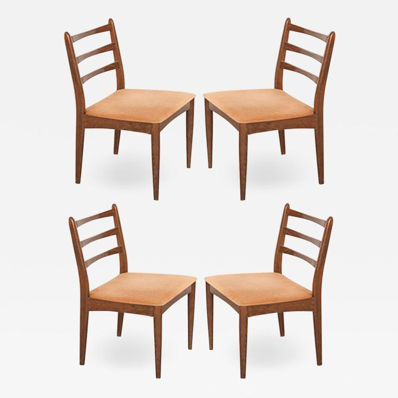 Set of Four Danish Modern Maple Side Chairs