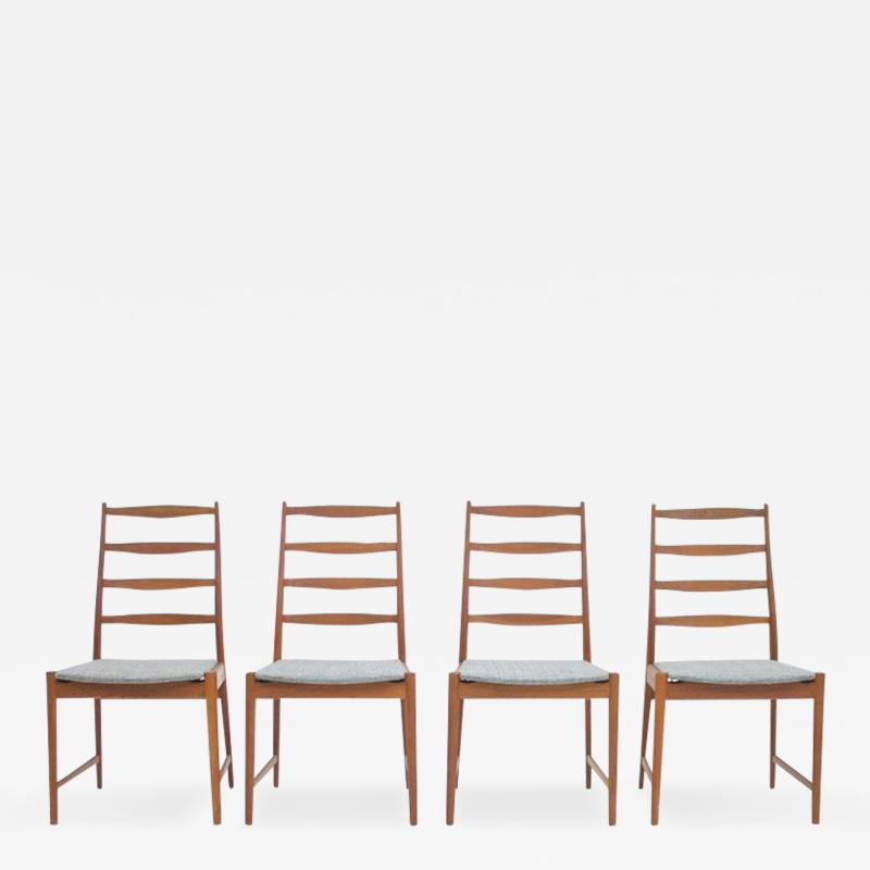 Set of Four Torbj rn Afdal Teak Dining Chairs by Vamo Denmark 1960s