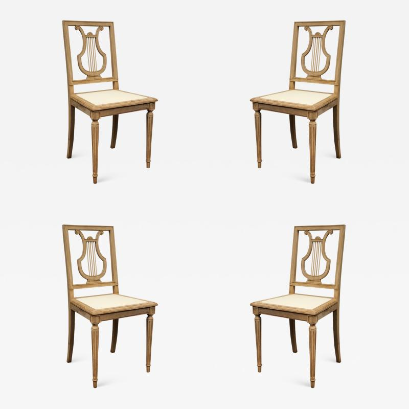 Set of Lyre Back Dining Chairs