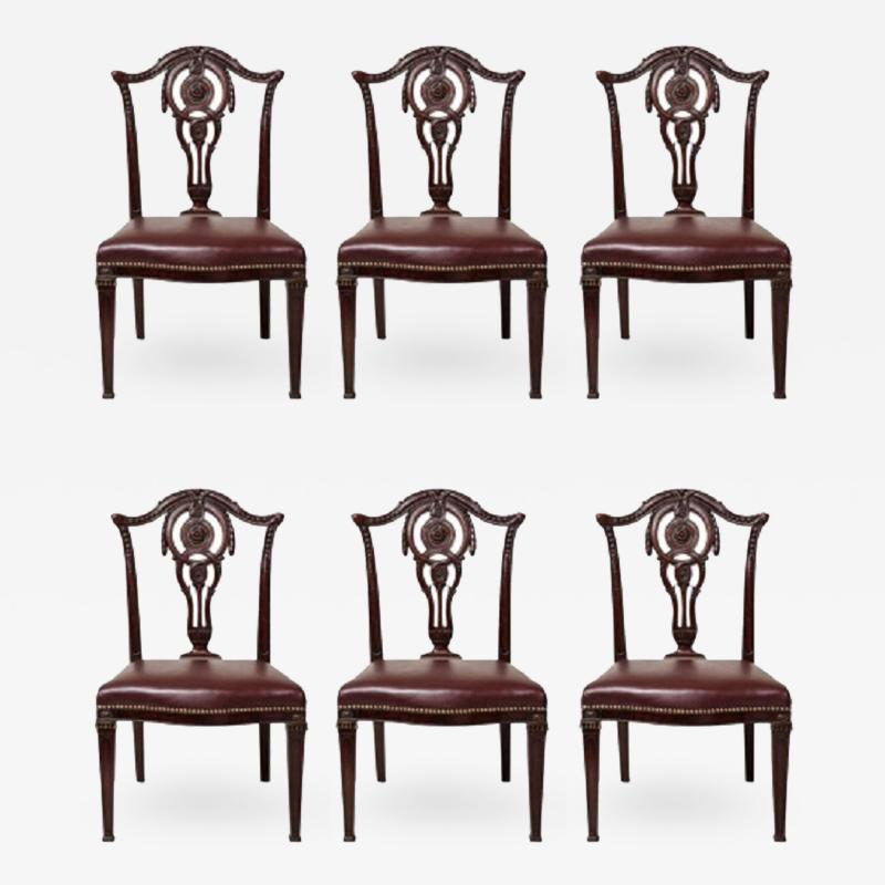 Set of Six English Neoclassical Dining Chairs