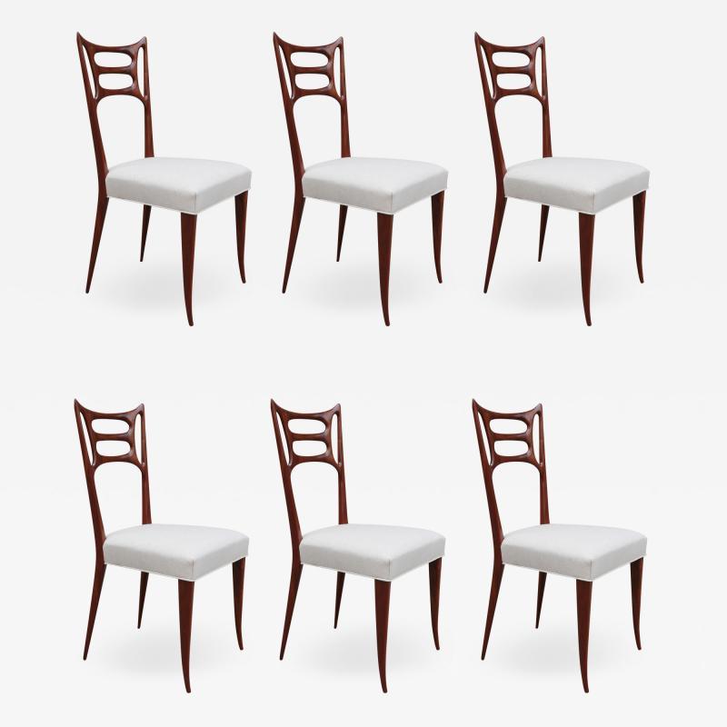 Set of Six Italian Modernist Dining Chairs