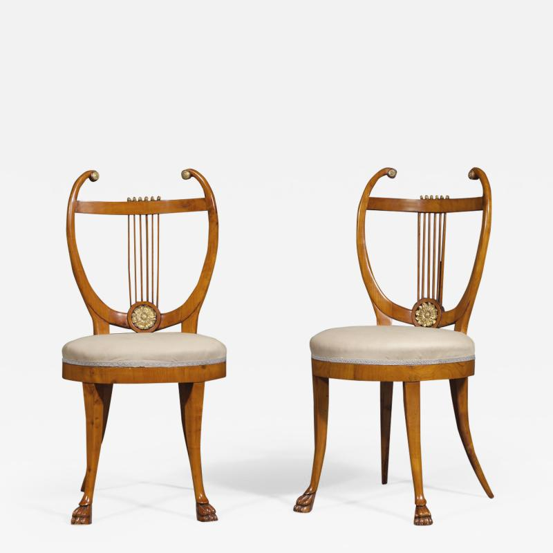 Set of Six Lyre Back Chairs