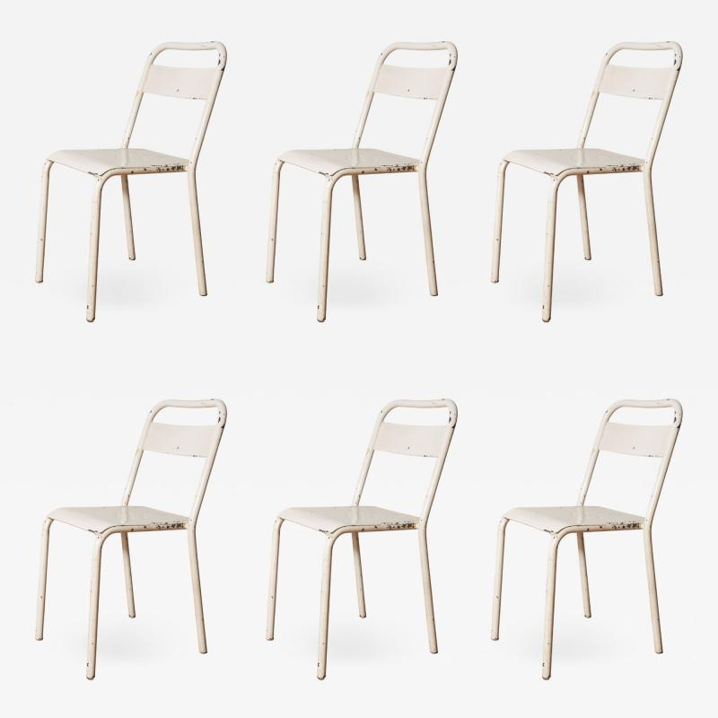 Set of Six Metal Chairs from the City of Montpellier France c 1960