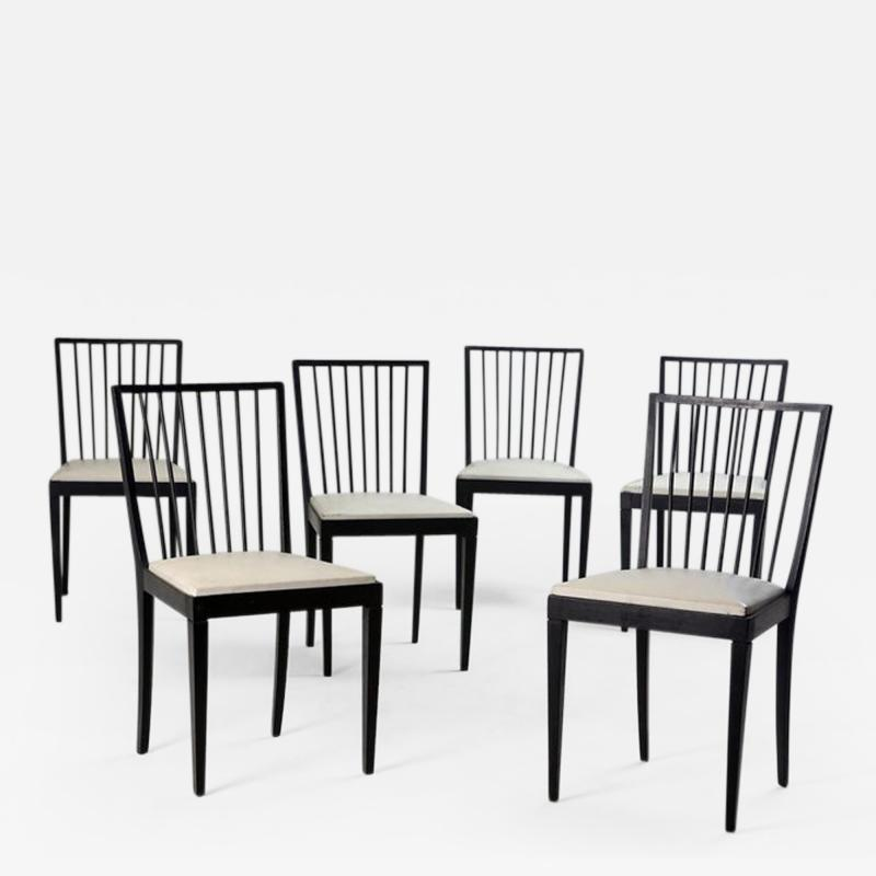 Set of Six Mid Century Modern Chairs by Flama M veis Manufacture Brazil 1950s