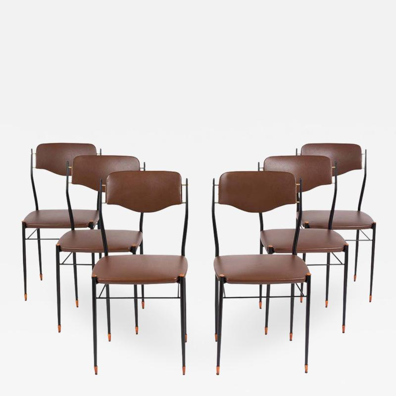 Set of Six Mid Century Modern Dining Chairs