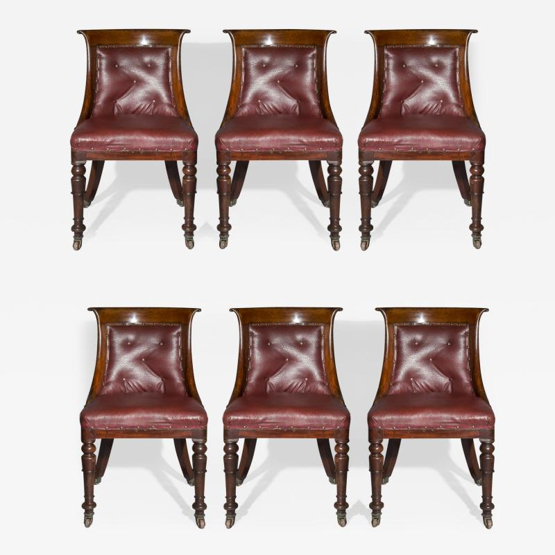 Set of Six Regency Tub Chairs