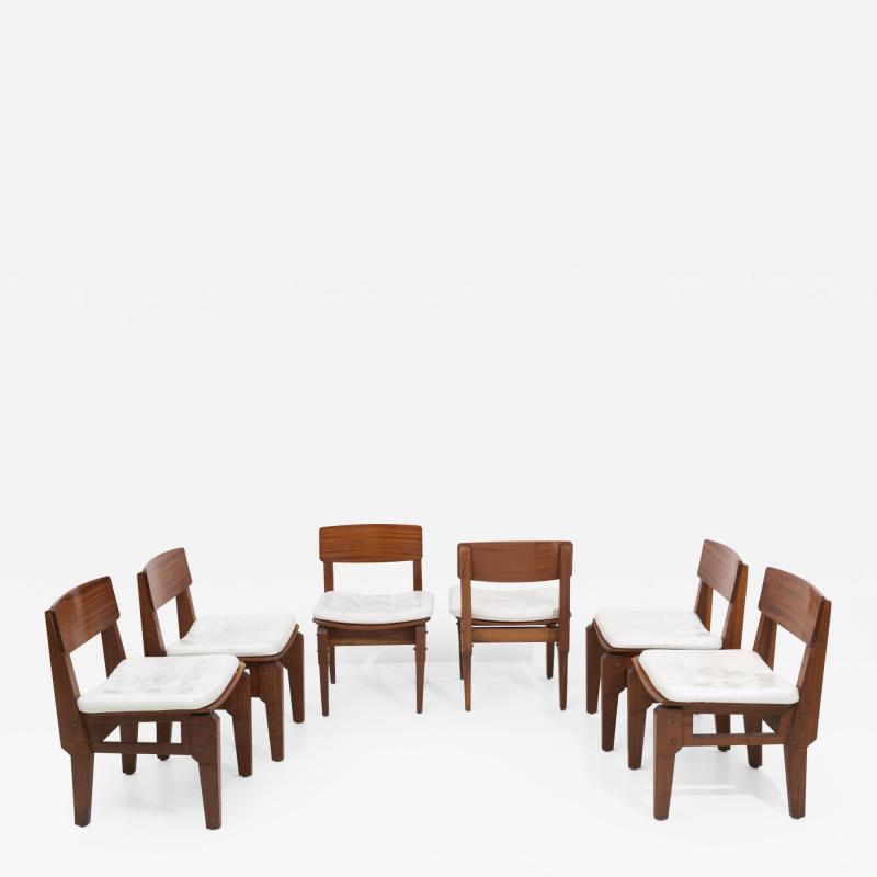 Set of six Italian chairs by Arc Vito Sangirardi for the Pallante shop Bari
